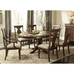 Buy Liberty Furniture Rustic Tradition 7 Piece 72x54 Dining Room Set in Cherry, Medium Wood on sale online