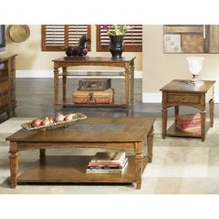 Buy Liberty Furniture Santa Fe 3 Piece 48x28 Occasional Table Set in Oak, Medium Wood on sale online