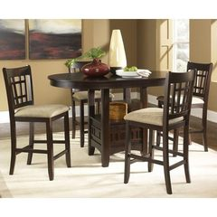 Buy Liberty Furniture Santa Rosa 5 Piece 60x42 Pub Table Set in Dark Wood on sale online