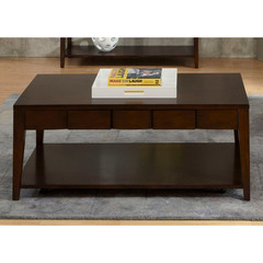 Buy Liberty Furniture Saxton 48x28 Rectangular Cocktail Table in Satin Sable on sale online