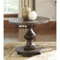 Buy Liberty Furniture Sedona 26 Inch Round End Table in Brown on sale online