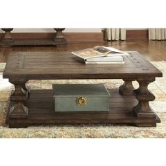 Buy Liberty Furniture Sedona 50x30 Rectangular Cocktail Table in Brown on sale online