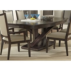 Buy Liberty Furniture Southpark 84x48 Pedestal Dining Table in Charcoal on sale online