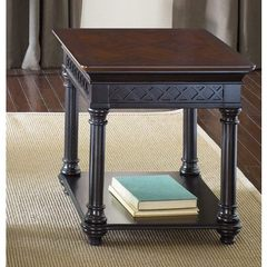 Buy Liberty Furniture St. Ives 27x23 Rectangular End Table in Chocolate and Cherry on sale online