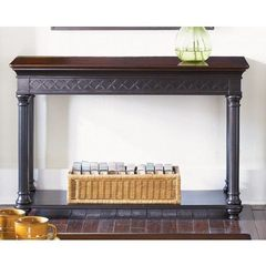 Buy Liberty Furniture St. Ives 47x18 Rectangular Sofa Table in Chocolate and Cherry on sale online