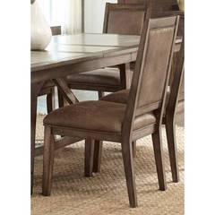 Buy Liberty Furniture Stone Brook Upholstered Side Chair in Rustic Saddle on sale online