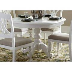 Buy Liberty Furniture Summer House I 54x42 Round Pedestal Dining Table on sale online