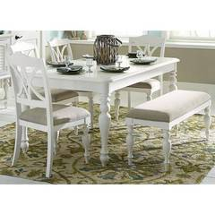 Buy Liberty Furniture Summer House I 6 Piece 78x49 Rectangular Dining Room Set on sale online