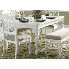 Buy Liberty Furniture Summer House I 78x49 Rectangular Leg Table in Oyster White on sale online