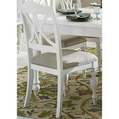 Buy Liberty Furniture Summer House I Splat Back Side Chair in Oyster White on sale online