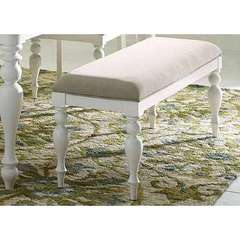 Buy Liberty Furniture Summer House I Upholstered 50x16 Inch Bench in Oyster White on sale online