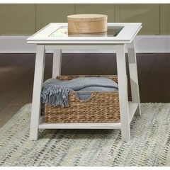 Buy Liberty Furniture Summerhill 24x24 Square End Table in White on sale online
