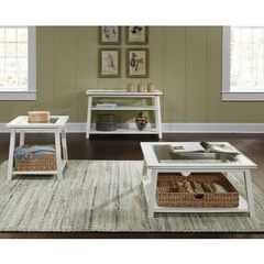 Buy Liberty Furniture Summerhill 3 Piece 36 Inch Square Occasional Table Set in White on sale online