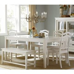 Buy Liberty Furniture Summerhill 6 Piece 72x40 Dining Room Set w/ Bench in White on sale online