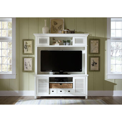 Buy Liberty Furniture Summerhill 68x20 Entertainment TV Stand w/ Hutch in White on sale online