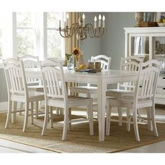 Buy Liberty Furniture Summerhill 7 Piece 72x40 Dining Room Set in White on sale online