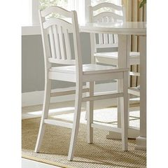 Buy Liberty Furniture Summerhill Country 24 Inch Counter Height Chair w/ Slat Back in White on sale online