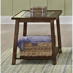 Buy Liberty Furniture Summerhill II 24x24 Square End Table in Dark Wood on sale online