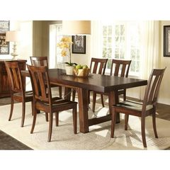 Buy Liberty Furniture Tahoe 7 Piece 90x40 Rectangular Dining Room Set in Mahogany on sale online