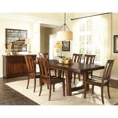 Buy Liberty Furniture Tahoe 8 Piece 90x40 Rectangular Dining Room Set w/ Server in Mahogany on sale online