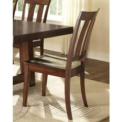 Buy Liberty Furniture Tahoe Transitional Side Chair w/ Slat Back in Mahogany on sale online