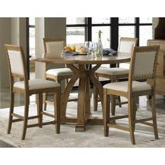 Buy Liberty Furniture Town & Country 5 Piece 54x54 Round Gathering Counter Height Set in Sand, Light Wood on sale online