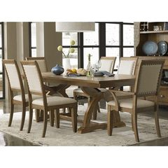 Buy Liberty Furniture Town & Country 7 Piece 96x42 Dining Room Set in Sand, Light Wood on sale online