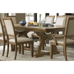 Buy Liberty Furniture Town & Country 96x42 Rectangular Dining Table in Sand, Light Wood on sale online