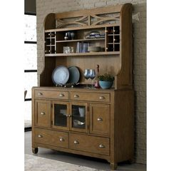 Buy Liberty Furniture Town & Country Buffet w/ Hutch in Sand, Light Wood on sale online