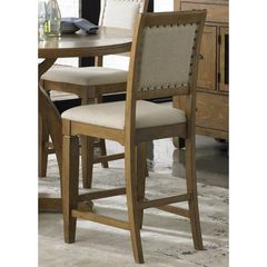 Buy Liberty Furniture Town & Country Upholstered 24 Inch Counter Height Stool in Sand, Light Wood on sale online