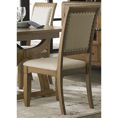 Buy Liberty Furniture Town & Country Upholstered Side Chair in Sand, Light Wood on sale online