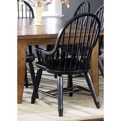 Buy Liberty Furniture Treasures Bow Back Arm Chair in Black on sale online