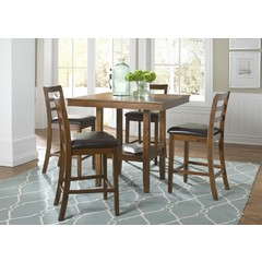Buy Liberty Furniture Tucson Dining II 5 Piece 40x40 Square Table Set on sale online