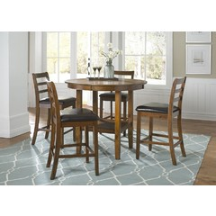 Buy Liberty Furniture Tucson Dining II 5 Piece 42x42 Pub Table Set on sale online