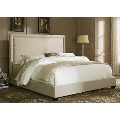 Buy Liberty Furniture Upholstered Beds Panel Bed in Natural Linen Fabric on sale online