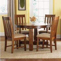 Buy Liberty Furniture Urban Mission 5 Piece 66x48 Dining Room Set in Oak on sale online