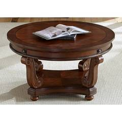 Buy Liberty Furniture Victorian Manor 40 Inch Round Cocktail Table in Cherry on sale online