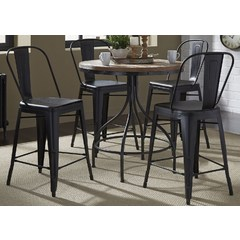 Buy Liberty Furniture Vintage Dining 5 Piece 36x36 Round Pub Set on sale online