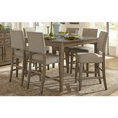 Buy Liberty Furniture Weatherford 7 Piece 54x54 Square Counter Height Set on sale online