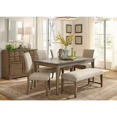 Buy Liberty Furniture Weatherford 7 Piece 72x38 Rectangular Dining Room Set w/ Server on sale online