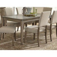Buy Liberty Furniture Weatherford 72x38 Rectangular Leg Table in Weathered Gray on sale online
