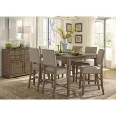 Buy Liberty Furniture Weatherford 8 Piece 54x54 Square Counter Height Set on sale online