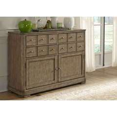 Buy Liberty Furniture Weatherford Server w/ 12 Drawers in Weathered Gray on sale online