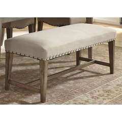 Buy Liberty Furniture Weatherford 50x18 Inch Upholstered Bench (RTA) in Weathered Gray on sale online