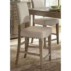 Buy Liberty Furniture Weatherford 24 Inch Upholstered Counter Chair (RTA) in Weathered Gray on sale online