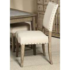 Buy Liberty Furniture Weatherford Upholstered Side Chair (RTA) in Weathered Gray on sale online