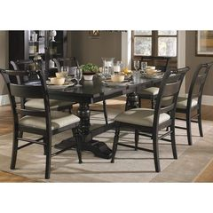 Buy Liberty Furniture Whitney 7 Piece 94x42 Dining Room Set in Black Cherry, Dark Wood on sale online