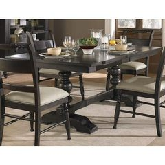 Buy Liberty Furniture Whitney 94x42 Rectangular Dining Table in Black Cherry, Dark Wood on sale online