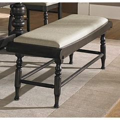 Buy Liberty Furniture 51x16 Inch Whitney Bench in Black, Dark Wood on sale online