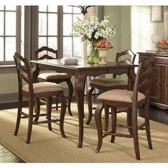 Buy Liberty Furniture Woodland Creek 5 Piece 54x54 Square Counter Height Set on sale online